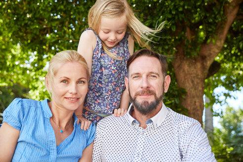 Portrait of happy family in garden - SRYF00637
