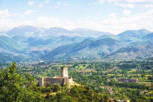 Italy, Lazio, Province of Frosinone, Cassino with Rocca Janula - CSTF01554