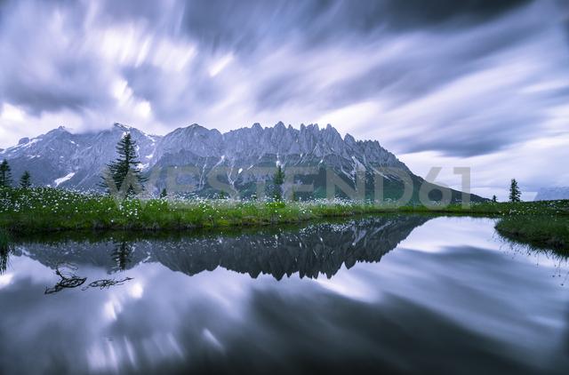 Austria, Hochkoenig, Mandlwand and moor pond - STCF00350