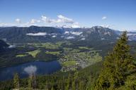 Austria, Styria, Salzkammergut, Ausseerland, Altaussee, Lake Altausseer See and Dachstein - WWF04024