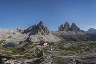 Italy, Sexten Dolomites, Tre Cime di Lavaredo, Nature Park Tre Cime, Rifugio Antonio Locatelli - RPS00091