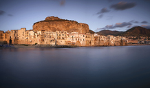 Italy, Sicily, Cefalu in the evening - EPF00482