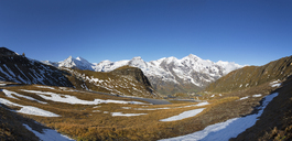 Austria, Salzburg State, Grossglockner High Alpine Road, Fuscher Toerl, View to Grosses Wiesbachhorn, High Tauern National Park - WWF04100