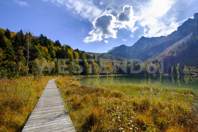 Germany, Bavaria, Upper Bavaria, Chiemgau, Inzell, Frillensee in autumn - LBF01729 - Lisa und Wilfried Bahnmüller/Westend61
