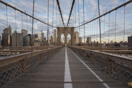 USA, New York City, Brooklyn Bridge - RPSF00145