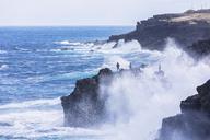 Reunion, West Coast, rocky coast at Souffleur - FOF09654