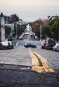 USA, California, San Francisco, close-up of a road - WVF00885