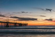 USA, California, Los Angeles, Venice Beach, Venice Beach Pier at sunset - WVF00891