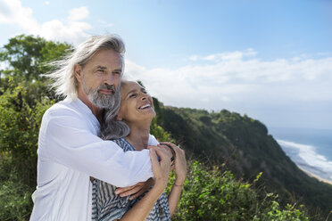 Portrait of a handsome senior couple at the sea - SBOF01060