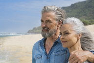 Portrait of a handsome senior couple at the sea - SBOF01078