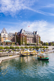 Canada, British Columbia, Vancouver Island, Victoria, Harbour, Harbor Ferries, Water Taxis, Fairmont Empress Hotel - SMA00921