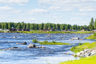 Finland, lapland, Torne river, border river, View from Finland to Sweden - CSTF01560