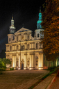 Poland, Krakow, Poland, Krakow, Pauline Monastery and St. Michael's Church at night - CSTF01587