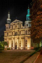 Poland, Krakow, Poland, Krakow, Pauline Monastery and St. Michael's Church at night - CSTF01587