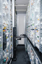 Medicine in shelves in commissioning machine in pharmacy - MFF04364