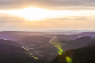 Germany, Baden-Wurttemberg, Black Forest, View from Feldberg mountain at sunrise - WDF04261