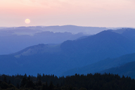Germany, Baden-Wurttemberg, Black Forest, View from Schauinsland at sunrise - WDF04276