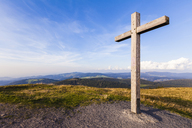 Germany, Baden-Wurttemberg, Black Forest, Summit cross on Belchen mountain - WDF04282