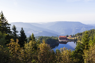 Germany, Baden-Wurttemberg, Black Forest, Hotel at Lake Mummelsee - WDF04288