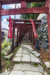 Japan, Koya-san, path and wall - THAF02075