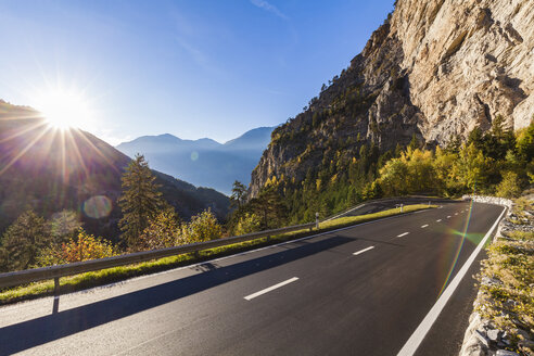 Switzerland, Valais, mountain road near Leukerbad - WDF04313