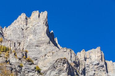 Switzerland, Valais, Leukerbad, mountain massif Leeshoerner - WDF04316