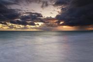 Carribean, Dominican Republic, Punta Cana, Playa Bavaro, view to the sea at sunrise - GFF01052