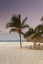 Carribean, Dominican Republic, Punta Cana, Playa Bavaro, beach at sunset - GFF01058