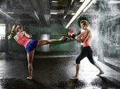 Two women having martial arts training - CVF00002