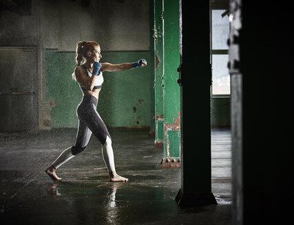 Woman having martial arts training - CVF00008