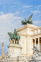 Italy, Rome, equestrian statue in front of Monumento a Vittorio Emanuele II - CSTF01607