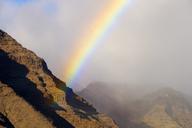 Spain, Canary Islands, La Gomera, Valle Gran Rey, rain bow - SIEF07669