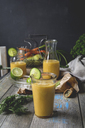 Smoothie with cucumber, carrot, lime, pear and hemp seeds - ODF01584