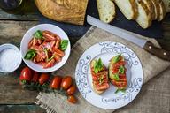 Bruschetta and various ingredients - GIOF03767