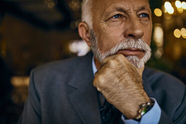 Portrait of elegant senior man thinking - ZEDF01169