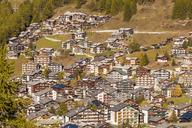 Switzerland, Valais, Zermatt, townscape, holiday homes - WDF04323