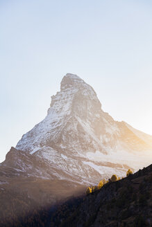 Switzerland, Valais, Zermatt, Matterhorn in the morning - WDF04329