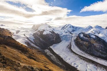 Switzerland, Valais, Zermatt, Monte Rosa, Monte Rosa massif, Monte Rosa Glacier, Border Glacier, Gorner Glacier - WDF04338