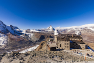Switzerland, Valais, Zermatt, Matterhorn, Gornergrat, Mountain station, Kulmhotel, observatory - WDF04347