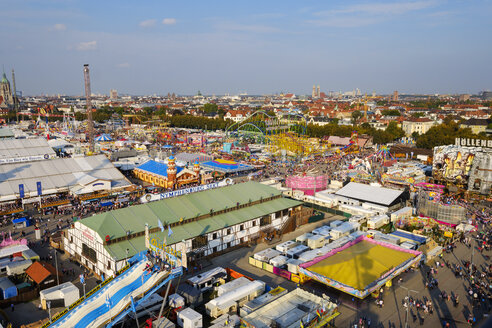Germany, Bavaria, Munich, View of Oktoberfest fair on Theresienwiese - SIEF07675