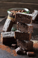 Brownies and glass of baking mix for preparing brownies - CSF28816