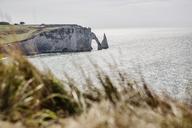 France, Normandy, Cote d'Albatre, rock coast of Etretat - JATF01009
