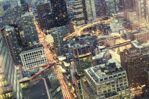 USA, New York, Manhattan at night - CMF00782