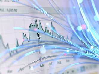 Financial charts and fibre optics symbolizing innovative stock market developments - ABRF00060