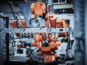 Industrial robot arm used in metalworking - CVF00076