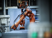Industrial robot arm used in metalworking - CVF00079
