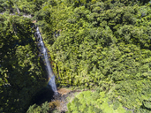 Mauritius, Black River Gorges National Park, Aerial View of Mare Aux Joncs Waterfall - FOF09815