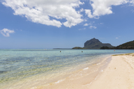 Mauritius, South Coast, Le Morne with Mountain Le Morne Brabant, beach - FOF09817