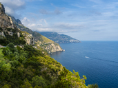 Italy, Campania, Gulf of Salerno, Sorrent, Amalfi Coast, Positano, cliff coast - AMF05609