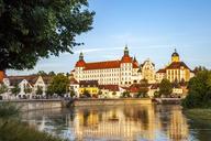 Germany, Bavaria, Neuburg an der Donau, Castle and Danube river - PUF01168